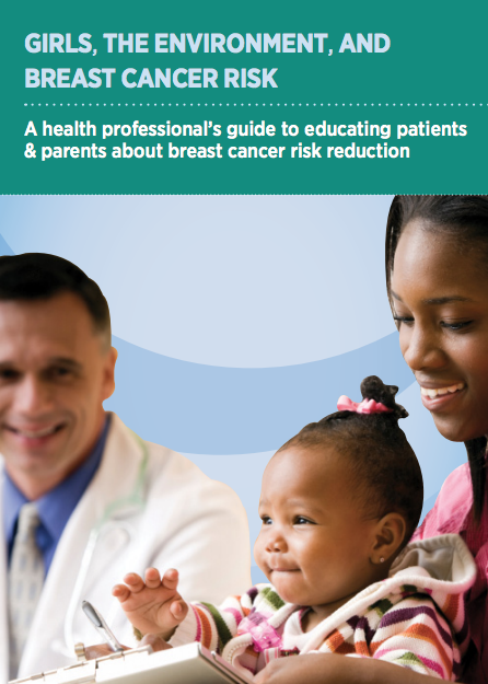 Image of health care handout that says girls, the environment, and breast cancer risk