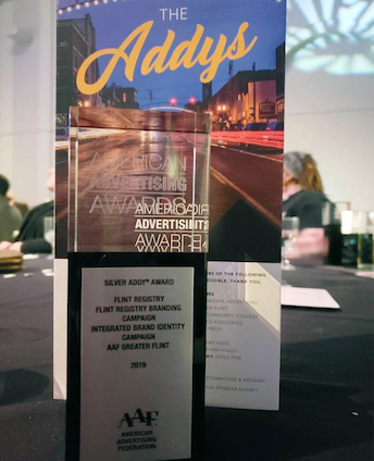 Flint Registry takes home Silver ADDY Award for its branding campaign